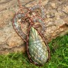 Collier pendentif labradorite wire wrapping