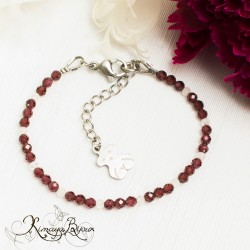 Bracelet enfant grenat et quartz rose ~ tendresse~
